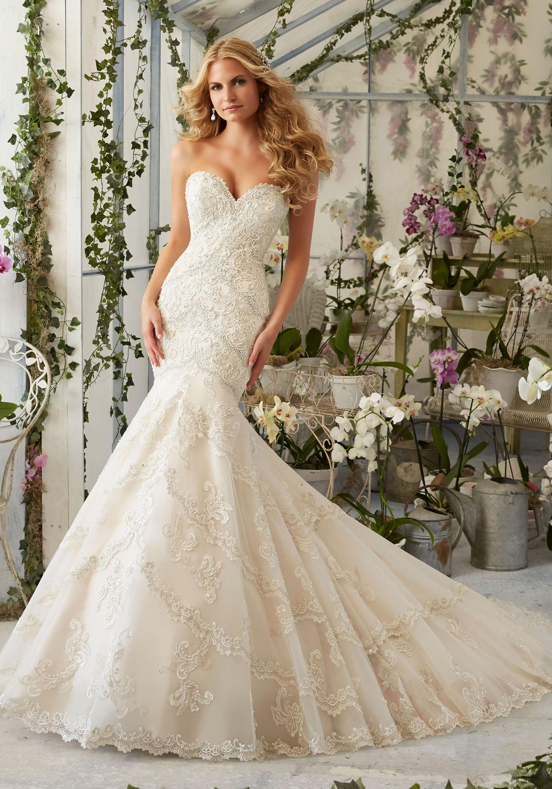 Morilee Wedding Dresses.Designer Mori Lee Sku 2801